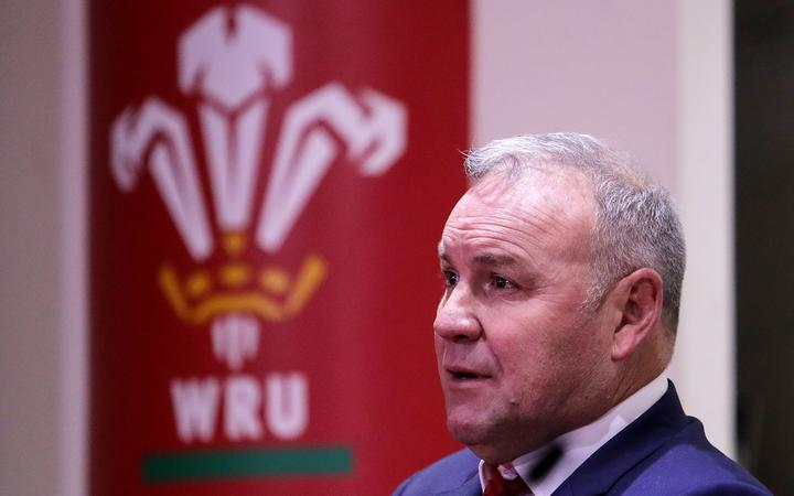 Wales head coach Wayne Pivac during the media conference.