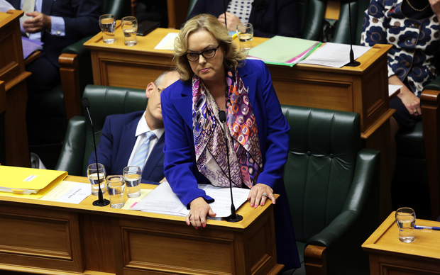 Judith Collins during question time at the debating chamber, Parliament.