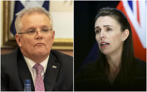 Scott Morrison and Jacinda Ardern