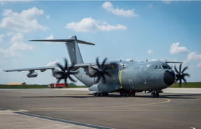French military cargo A400M plane