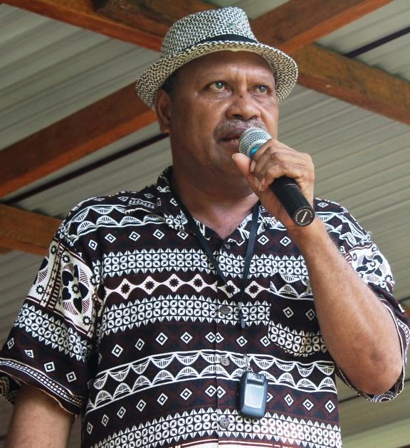 The premier of Malaita Province Daniel Suidani.
