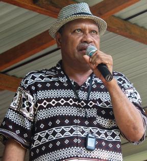 The premier of Malaita Province Daniel Suidani.