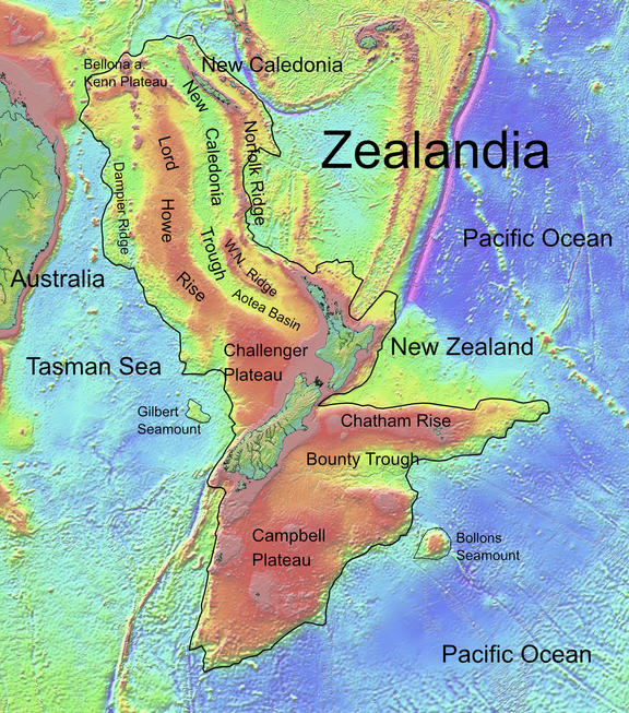 The hidden continent of Zealandia is nearly 95 percent underwater.