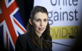 WELLINGTON, NEW ZEALAND - MAY 05: Prime Minister Jacinda Ardern speaks to media during a press conference at Parliament on May 05, 2020 in Wellington, New Zealand.