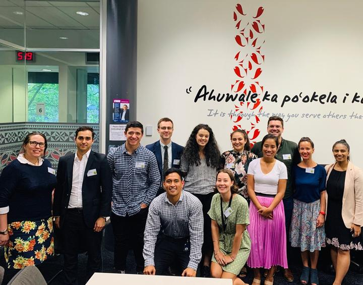 Some of Deloitte NZ's Pasifika and Maori Team members at a University of Auckland recruitment event.