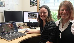 Ecological modeller Pen Holland (left) and games developer Hazel Bradshaw (right) have collaborated on the ecological adventure games Possum Stomp and Ora.