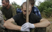 A Ukrainian prisoner-of-war.