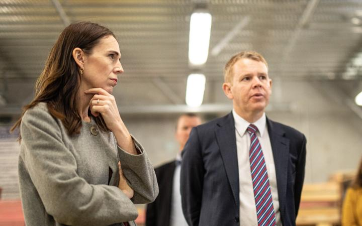 Prime Minister Jacinda Ardern and Education Minister Chris Hipkins visit Weltec School of Construction in Petone, Wellington.
