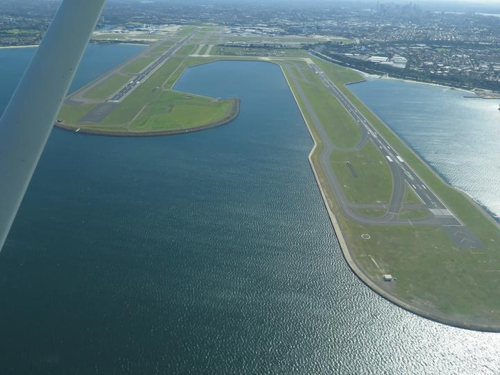 Runways at Sydney Airport, devoid of air traffic