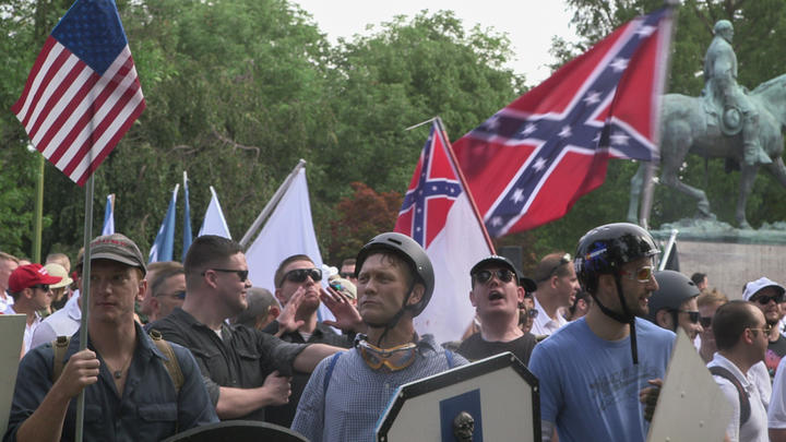 Unite the Right rally in Charlottesville, Virginia, US, 2017.