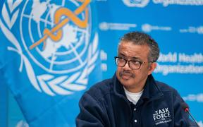 WHO Director-General Tedros Adhanom Ghebreyesus on 16 May.
