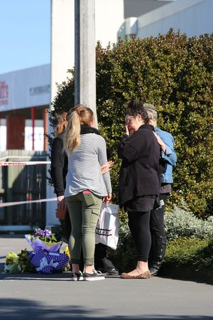 Friends and family of the deceased gathered in Ashburton this morning.