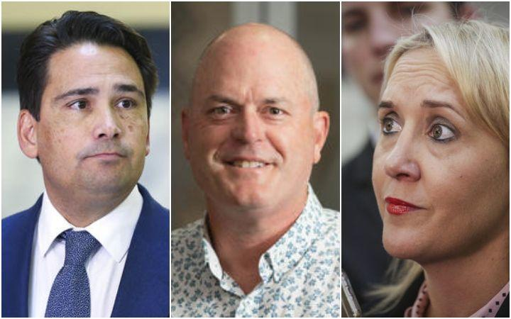 Simon Bridges, Todd Muller and Nikki Kaye.