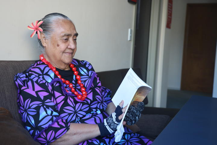 Fereni Ete preparing for the Ina'ilau a Tinā programme at Samoa Capital Radio