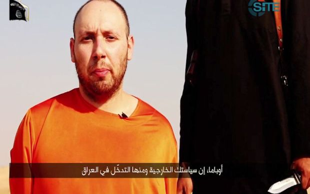 An image grab of Steven Sotloff taken from a video released by the Islamic State.