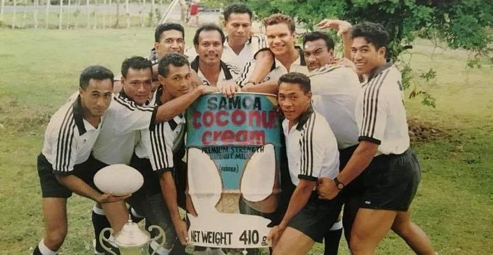 Marina Schaafhausen managed the Mighty Moata'a Sevens champions of Western Samoa in 1991.