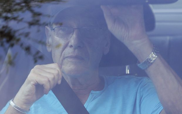 Arthur Sotloff, father of slain journalist Steven Sotloff, leaves their family home in Pinecrest, Florida.