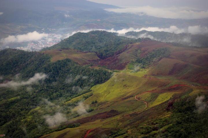 Hills overlooking the West Papuan capital, Jayapura.
