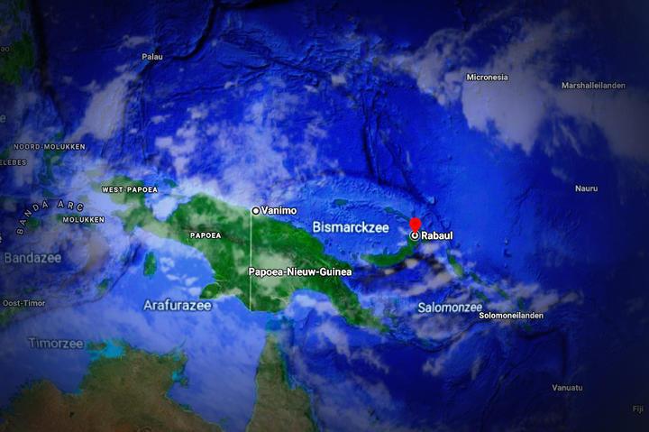 A Dutch map of Rabaul