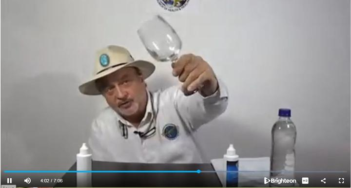 Genesis II 'archbishop' Mark Grenon drinks MMS - chlorine dioxide mixed with water