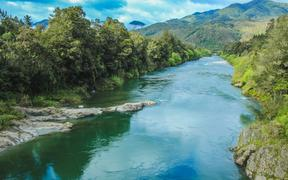 Beautiful scenery at Buller River, South Island, New Zealand