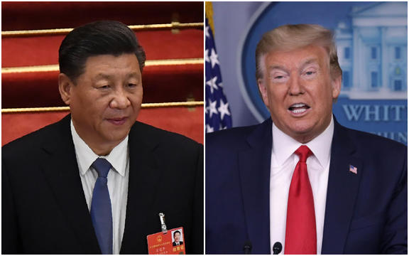 Chinese president Xi Jinping and US President Donald Trump