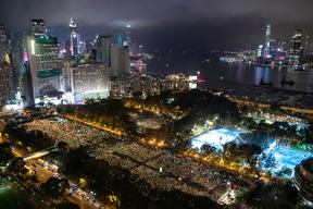 Victoria Park in Hong Kong last year, during the 4 June vigil for the Tiananmen Square Crackdown.