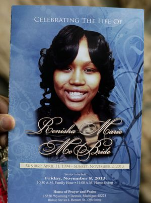 Renisha McBride, who was shot and killed by Theodore Wafer when she knocked on his door seeking help.