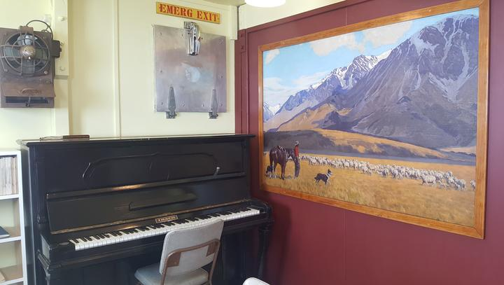 The piano housed in Hillary Hut was acquired from the Americans in the late 1950s and lived in the Scott Base bar for many years.