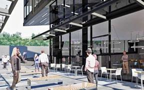 An artist's impression of the Bowen Campus office development in central Wellington.