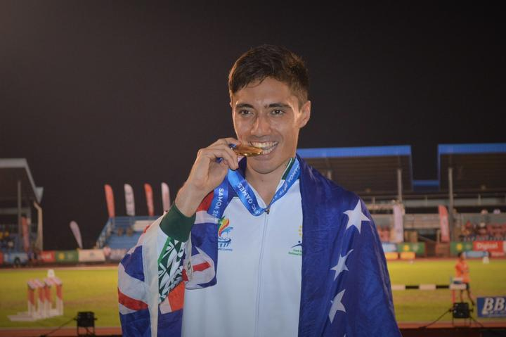 Alex Beddoes, double gold medalist at the 2019 Pacific Games in Samoa, was named 2020 Cook Islands Sportsman of the Year.