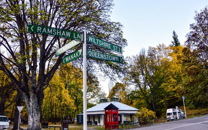 Arrowtown,May 3 -April 30,2016: Arrowtown in Autumn.Arrowtown is an historic gold mining town in the Otago region of the South Island of New Zealand.