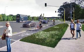 Eastern Busway project, artist's impression.
