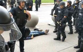 A video by local reporters for public radio station WBFO shows a 75-year-old man being pushed to the ground and bleeding from the head during protests in Buffalo, New York.