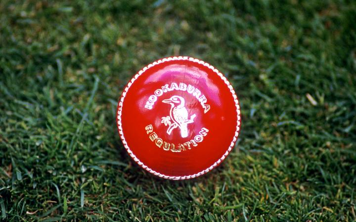 Kookaburra regulation cricket ball.