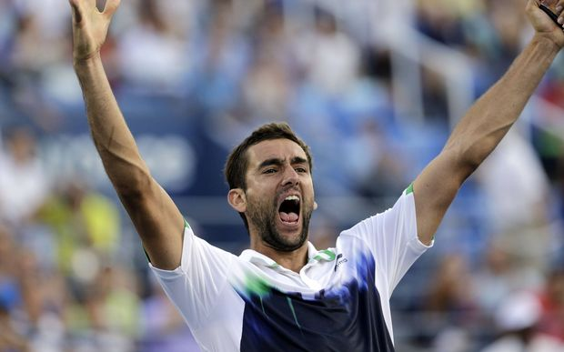 Winner of the US Tennis Open Marin Cilic, who a year ago was serving a drug ban.