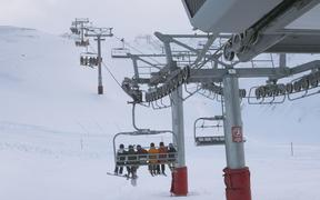 Opening day at Mt Hutt Ski Field in Canterbury. 12 June 2020