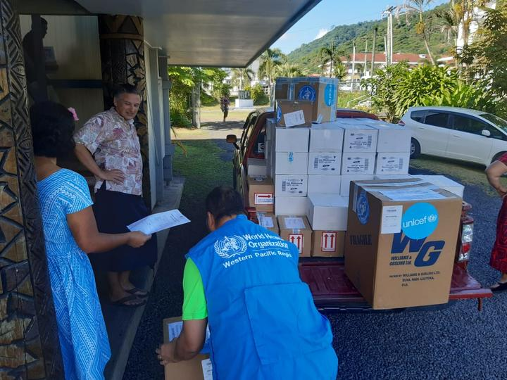 Personal Protective Equipment arriving at Samoa's Emergency Operation Centre