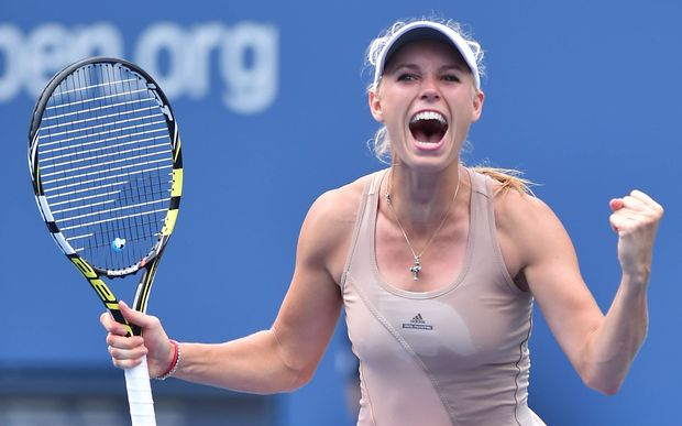 Caroline Wozniacki in action at the US Open