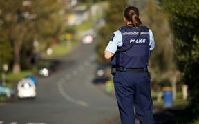 Police at shooting at the top of Reynella Drive in Massey, west Auckland