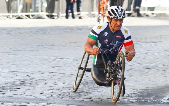 Alex Zanardi, Italian champion on HandBike.
