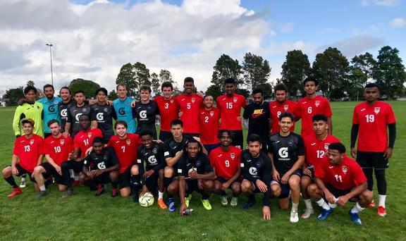 Manukau United, with Hone Fowler - standing 3rd from left