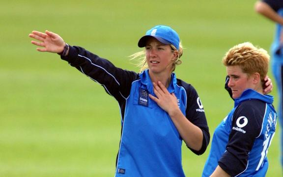 England cricket captain Clare Connor playing in New Zealand in 2000.