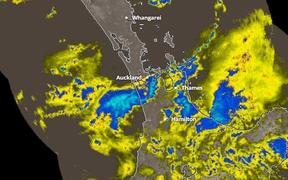 MetService rain radar early Thursday morning.