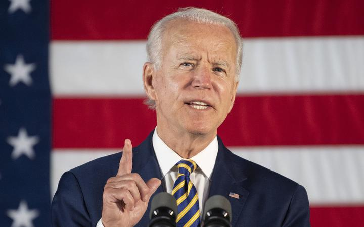 Democratic presidential candidate Joe Biden speaks about reopening the country during a speech in Darby, Pennsylvania, on June 17, 2020.