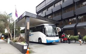 Grand Mercure in Wellington is a managed isolation hotel for returning New Zealanders to curb the spread of Covid-19