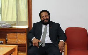 The leader of Papua New Guinea's Triumph Heritage and Empowerment party, Don Polye.