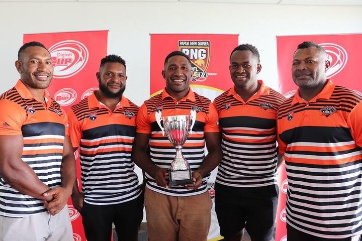2019 Digicel Cup champions, the Lae Snax Tigers.