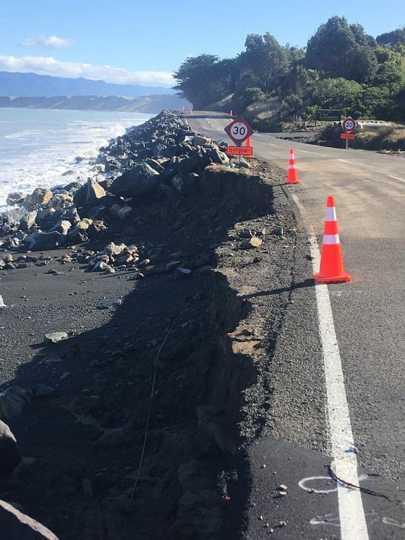 The Cape Palliser Rd was damaged again during storms earlier this year.