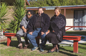 Bay of Plenty hapu leaders (from left) Della Te Pere, Stan Ratahi and Amohaere Tangitu hope Book a Marae will help their whānau thrive.